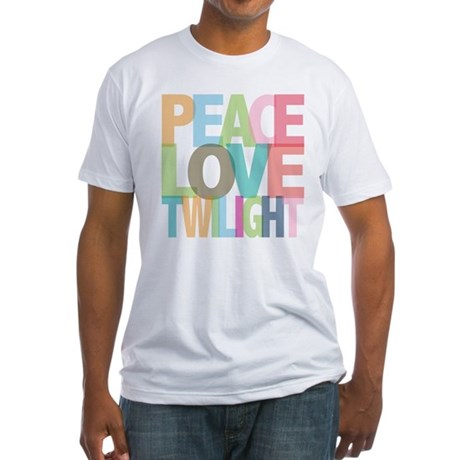 Peace Love Twilight Fitted T-Shirt