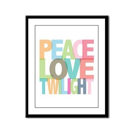 Peace Love Twilight Framed Panel Print