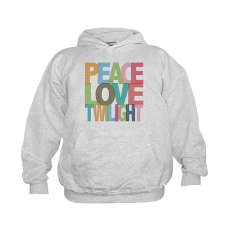 Peace Love Twilight Kids Hoodie