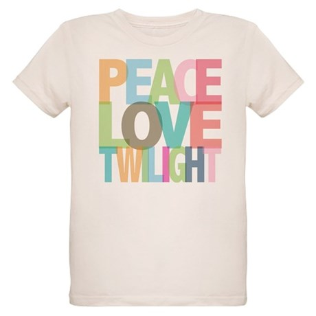 Peace Love Twilight Organic Kids T-Shirt