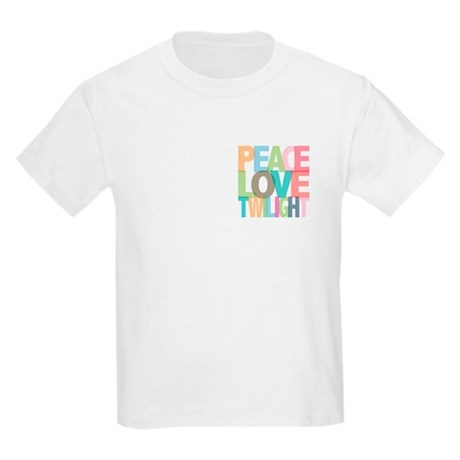 Peace Love Twilight Kids Light T-Shirt