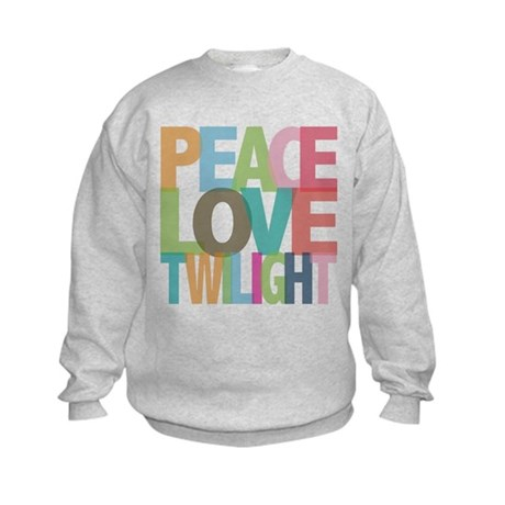 Peace Love Twilight Kids Sweatshirt