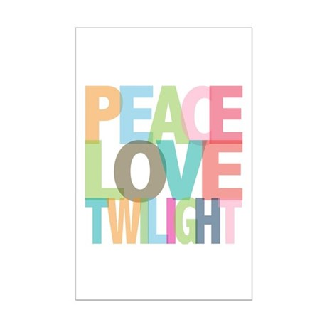 Peace Love Twilight Mini Poster Print