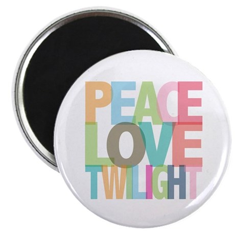 "Peace Love Twilight 2.25"" Magnet (10 pack)"