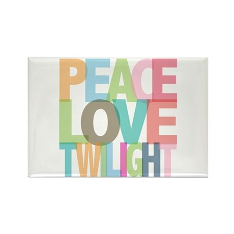 Peace Love Twilight Rectangle Magnet