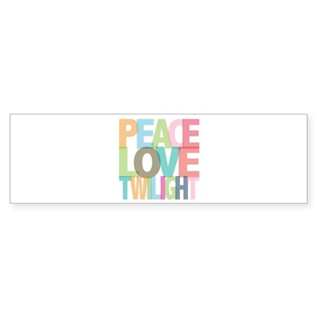 Peace Love Twilight Bumper Sticker