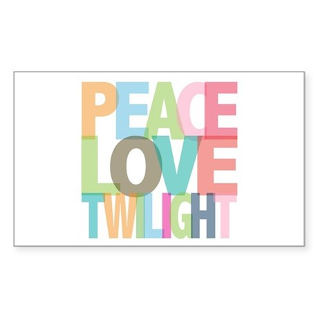 Peace Love Twilight Rectangle Sticker 10 pk)