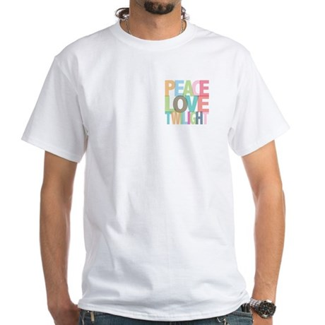 Peace Love Twilight White T-Shirt
