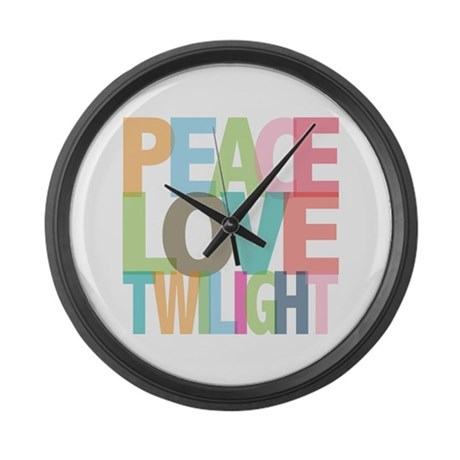 Peace Love Twilight Large Wall Clock