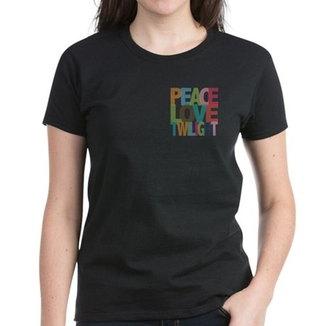 Peace Love Twilight Women's Dark T-Shirt