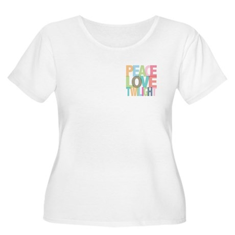 Peace Love Twilight Women's Plus Size Scoop Neck T