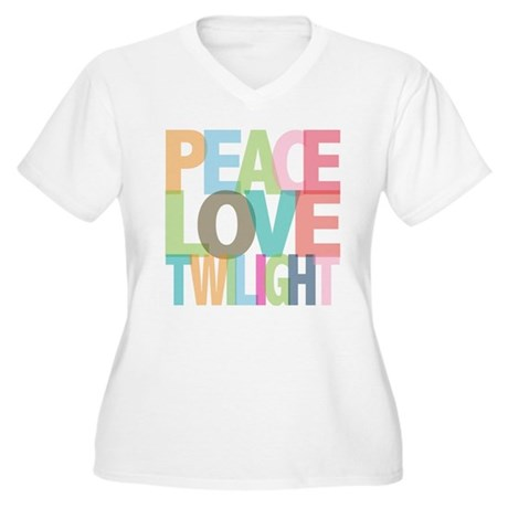 Peace Love Twilight Women's Plus Size V-Neck T-Shi