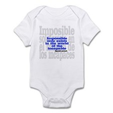 Impossible only exists... Infant Bodysuit