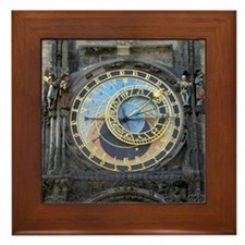 Prague Framed Tile: <br> Astronomical Clock
