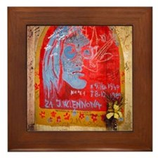 Prague Framed Tile: <br> John Lennon Wall