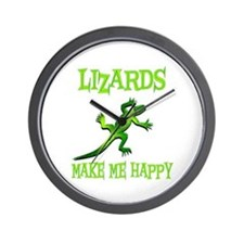 Lizards Wall Clock