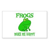 Frogs Rectangle Sticker 10 pk)