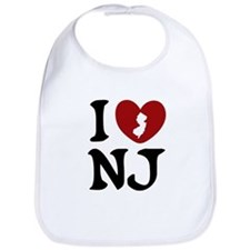 I Love New Jersey Bib