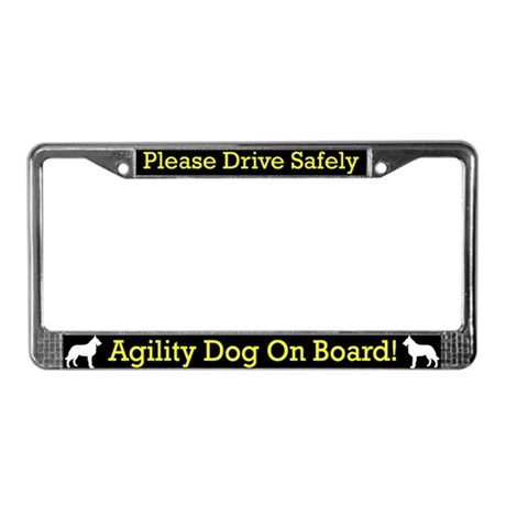 Belgian Laekenois Agility Dog License Plate Frame