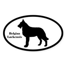 Belgian Laekenois Silhouette Oval Decal