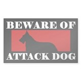 Beware of Attack Dog Belgian Laekenois Decal