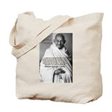 Gandhi Peace Christmas Gift  Tote Bag