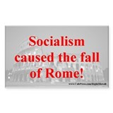 Socialism felled Rome (sticker)