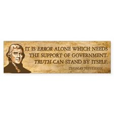 Government & Error Bumper Sticker (50 pk)