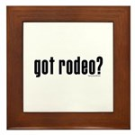 got rodeo? Framed Tile