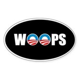 Anti Obama Woops Oval Decal