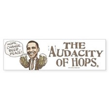 Hope, Change, Beer Bumper Bumper Sticker