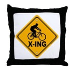 Cycle X-ing Throw Pillow