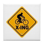 Cycle X-ing Tile Coaster