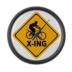 Cycle X-ing Large Wall Clock