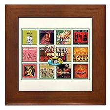 World Music Framed Tile