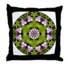 Spiderwort and Ferns Throw Pillow