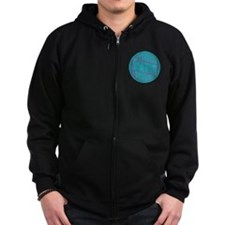Folkways Recordings Zip Hoodie (dark)