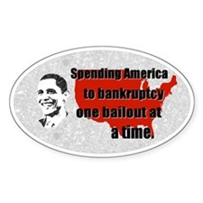 Obama Bankruptcy Bailout Bumper Decal