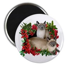 Siamese Cats in Berries Magnet