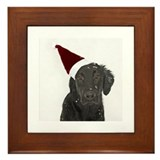 Flat-Coated Retriever Framed Tile