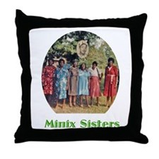 Minix Sisters Throw Pillow