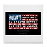 Folkways Artists Tile Coaster