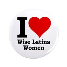 "Heart Wise Latina 3.5"" Button"
