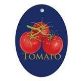 Plump Red Tomatoes Oval Ornament