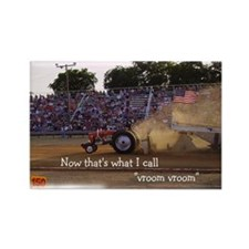 Vroom Vroom Tractor Rectangle Magnet