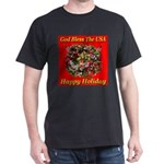 Happy Holiday Black T-Shirt