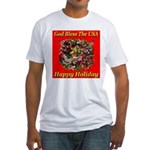 Happy Holiday Fitted T-Shirt