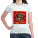 Happy Holiday Jr. Ringer T-Shirt