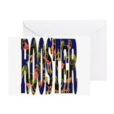 Chinese Rooster Greeting Card