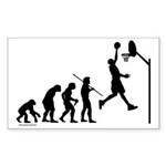 Basketball Evolution Rectangle Sticker 50 pk)
